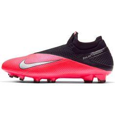 Nike Черные Vision Elite DF Мужские FG Футбольные Бутсы LASER Малиновые/Металлик Серебристые- от SportsTerritory