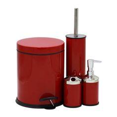 Набор органайзер Proff Red в ванную комнату 4 единицы PF2601955 от Podushka