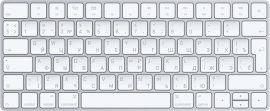 Акция на Клавиатура беспроводная Apple Magic Keyboard Bluetooth (MLA22RU/A) от Rozetka