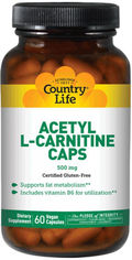Жиросжигатель Country Life L-Carnitine 500 мг 60 капсул (01579401075) от Rozetka