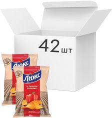 Упаковка чипсов Люкс со вкусом паприки 71 г x 42 шт (7622210234728) от Rozetka