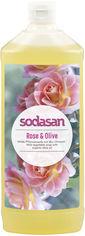 Акция на Органическое жидкое мыло Sodasan Rose-Olive тонизирующее с розовым и оливковым маслами 1 л (4019886076166) от Rozetka