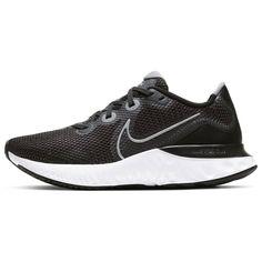 Nike Renew Run Women's Кроссовки для Бега Черные/Металлик Серебристые-Белые от SportsTerritory