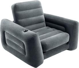 Надувное велюр-кресло Intex 117 х 224 х 66 см Черное (Intex 66551) от Rozetka