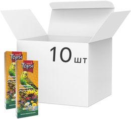 Акция на Упаковка корма палочки для волнистых попугаев Topsi Разнотравье 100 г 10 шт (14820122208282) от Rozetka