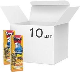 Акция на Упаковка палочек для волнистых попугаев Topsi яично-медовые 100 г 10 шт (14820122203645) от Rozetka