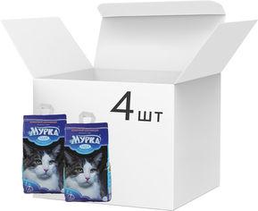 Акция на Упаковка наполнителя для кошачьего туалета Мурка средний Бентонитовый комкующий 5 кг х 4 шт (4820087660036) от Rozetka