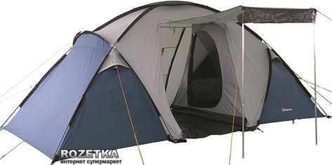 Палатка KingCamp Bari 6 Grey/Blue (KT3031) от Rozetka
