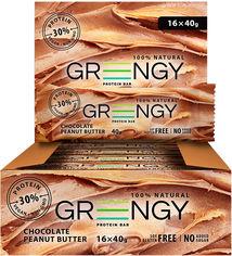 Упаковка протеиновых батончиков Greengy Шоколадное арахисовое масло 16 шт х 40 г (4820221320345) от Rozetka