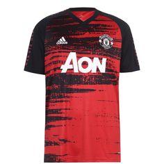 Adidas Manchester United Pre Match Рубашка 2020 2021 Мужская Красная/Черная от SportsTerritory