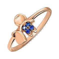 Кольцо из красного золота с фианитами 000140007 19 размера от Zlato