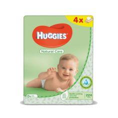 Акция на Салфетки влажные Huggies Natural Care, 56шт х 4уп. от Chicco