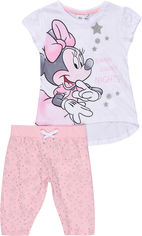 Пижама (футболка + штаны) Disney Minnie ET2066 98 см Белая (3609084278908) от Rozetka
