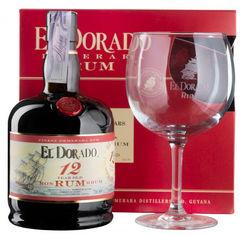 Ром El Dorado 12 YO 0.7 л 40% с одним бокалом в подарочной упаковке (8715151128597) от Rozetka