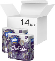 Акция на Упаковка туалетной бумаги Grite Orchidea 17.4 м 145 отрывов 3 слоя 4 рулона х 14 шт (4770023348101) от Rozetka