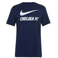 Nike Chelsea Swoosh Футболка 2020 2021 Мужская Темно-синяя от SportsTerritory