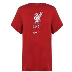Nike Liverpool Crest Мужская Футболка Тренировочная Красная/Белая от SportsTerritory
