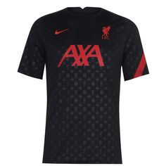 Nike Liverpool Pre Match Рубашка 2020 2021 Мужская Черная/Тренировочная Красная/Тренировочная Красная от SportsTerritory