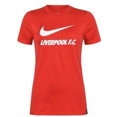 Nike Liverpool Swoosh Женская Футболка Тренировочная Красная от SportsTerritory