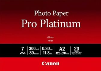 Фотобумага Canon A2 Pro Platinum Photo Paper PT-101 A2 20л (2768B067) от MOYO