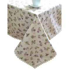 Скатерть Прованс Lilac rose с кружевной отделкой 140х220 см от Podushka