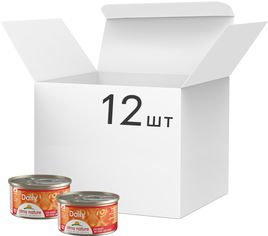 Акция на Упаковка влажного корма для котов Almo Nature Daily Menu Cat Кусочки говядина 12 шт по 85 г (2000981169299) от Rozetka