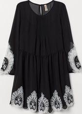 Платье H&M Divided XAZ152550GUKK 32 Черное с белым (DD2000003521166) от Rozetka