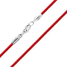 Браслет из серебра и красной крученой нити 000140571 18 размера от Zlato