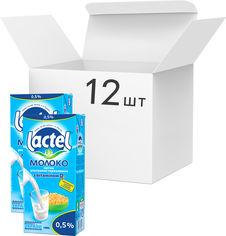 Упаковка молока ультрапастеризованного Lactel с витамином D3 0.5% 1 кг х 12 шт (4823065703763) от Rozetka