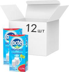 Упаковка молока ультрапастеризованного Lactel с витамином D3 3.2% 1 кг х 12 шт (4823065703787) от Rozetka