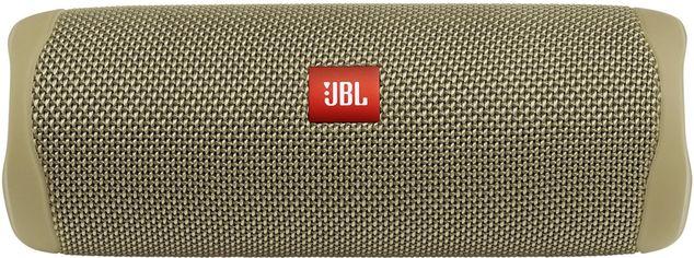 Акция на Акустическая система JBL Flip 5 Sand (JBLFLIP5SAND) от Rozetka
