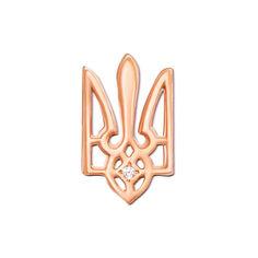 Значок из красного золота с фианитом 000004150 от Zlato