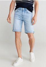 Акция на Шорты джинсовые Mango Man от Lamoda