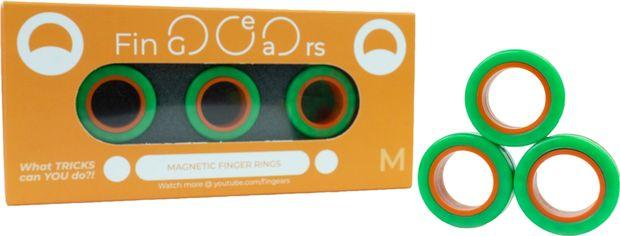 Магнитные кольца FinGears Magnetic Rings Sets Size M Green-Orange (FG380MGROR) от Rozetka