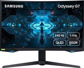 """Акция на Mонитор 31.5"""" Samsung Odyssey G7 C32G75TQSI Black (LC32G75TQSIXCI) от Rozetka"""