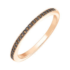 Кольцо из красного золота с бриллиантами и родированием 000141227 16.5 размера от Zlato