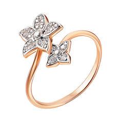 Золотое кольцо в комбинированном цвете с фианитами 000141190 17.5 размера от Zlato