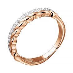 Золотое кольцо в комбинированном цвете с фианитами 000141298 16.5 размера от Zlato