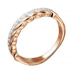 Золотое кольцо в комбинированном цвете с фианитами 000141298 18.5 размера от Zlato