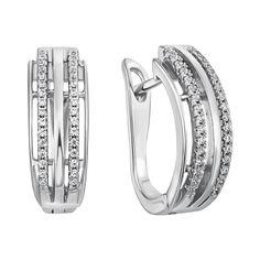 Серебряные серьги с цирконием 000029050 от Zlato