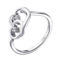 Серебряное кольцо с фианитами 000141185 18 размера от Zlato