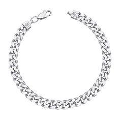 Серебряный браслет с алмазной гранью 000121465, 4мм 20 размера от Zlato