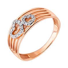 Золотое кольцо в комбинированном цвете с фианитами 000132963 16.5 размера от Zlato
