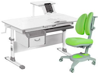 Акция на Комплект Evo-kids Evo-40 G + кресло Y-115 KZ Серый с зеленым (Evo-40 G + Y-115 KZ) от Rozetka