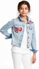 Джинсовая куртка H&M 95421596 170 см Голубая (hm04185281366) от Rozetka