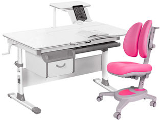 Акция на Комплект Evo-kids Evo-40 G + кресло Y-115 KP Серый с розовым (Evo-40 G + Y-115 KP) от Rozetka