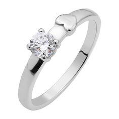 Серебряное кольцо с цирконием Swarovski 000103120 15.5 размера от Zlato