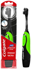 Электрическая зубная щетка Colgate 360 Древесный уголь Зеленая (4606144006548_зеленая) от Rozetka