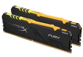 Акция на Память для ПК Kingston HyperX DDR4 2400 32GB (Kit of 2x16) Fury RGB Black (HX424C15FB3AK2/32) от MOYO