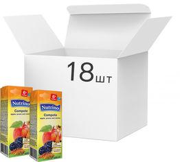 Упаковка морса Nutrino яблоко, чернослив и изюм 18 шт х 200 мл (8606019657703) от Rozetka
